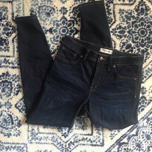 Madewell hi rise skinny 9 inch skinny jeans